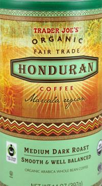 Trader Joe's Organic Fair Trade Honduran Coffee