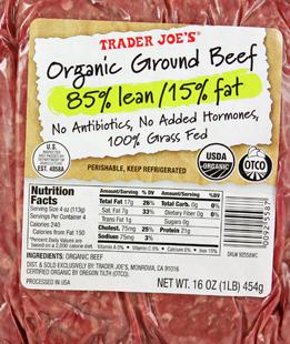 Trader Joe's Organic Ground Beef