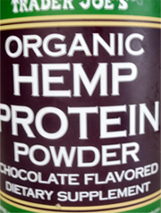 Trader Joe's Organic Hemp Protein Powder Chocolate Flavored