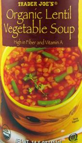 Trader Joe's Organic Lentil Vegetable Soup