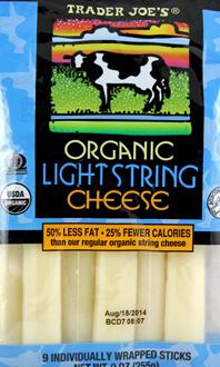 Trader Joe's Organic Light String Cheese