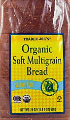 Trader Joe's Organic Soft Multigrain Bread