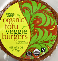 Trader Joe's Organic Tofu Veggie Burgers
