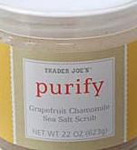 Trader Joe's Purify Grapefruit Chamomile Sea Salt Scrub