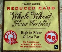 Trader Joe's Reduced Carb Whole Wheat Flour Tortillas