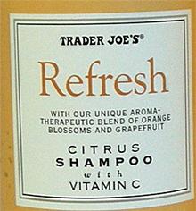 Trader Joe's Refresh Citrus Shampoo
