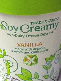 Trader Joe's Soy Creamy Vanilla Ice Cream