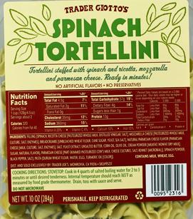 Trader Joe's Spinach Tortellini