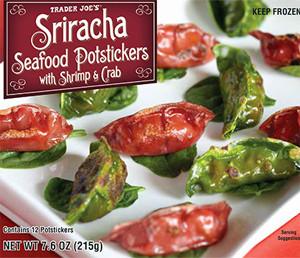 Trader Joe's Sriracha Seafood Potstickers with Shrimp & Crab