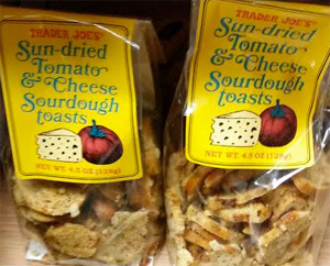 Trader Joe's Sun-Dried Tomato & Cheese Sourdough Toasts