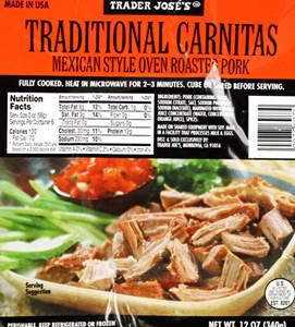 Trader Joe's Traditional Carnitas