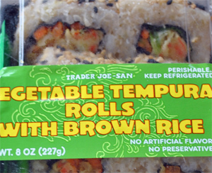 Trader Joe's Vegetable Tempura Rolls with Brown Rice