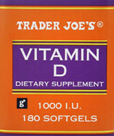 Trader Joe's Vitamin D Dietary Supplement