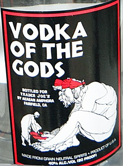 Trader Joe's Vodka of the Gods