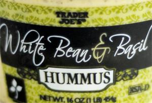 Trader Joe's White Bean & Basil Hummus