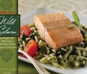 Trader Joe's Wild Salmon in Yogurt & Mint Sauce
