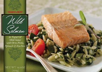 Trader Joe's Wild Salmon in Yogurt & Mint Sauce