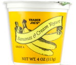 Trader Joe's Bananas & Cream Yogurt