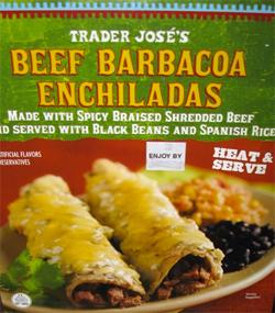 Trader Joe's Beef Barbacoa Enchiladas