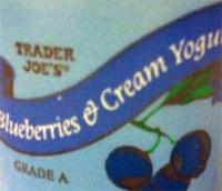 Trader Joe's Blueberries & Cream Yogurt