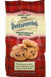 Trader Joe's Mini Butterscotch Shortbread Buttons Cookies