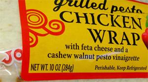 Trader Joe's Grilled Pesto Chicken Wrap
