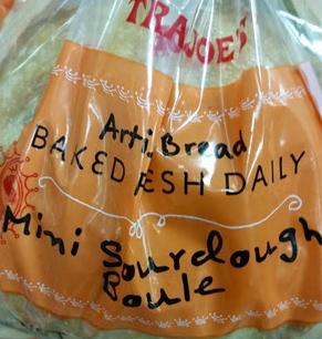 Trader Joe's Mini Sourdough Boule Bread