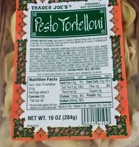 Trader Joe's Pesto Tortelloni