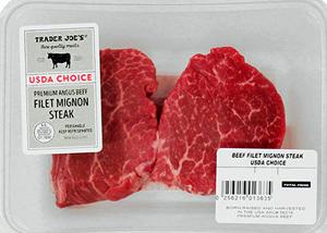 Trader Joe's USDA Choice Premium Angus Beef Filet Mignon Steak