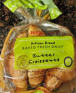 Trader Joe's Artisan Bread Baked Fresh Daily Butter Croissants