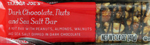 Trader Joe's Dark Chocolate, Nuts and Sea Salt Bar