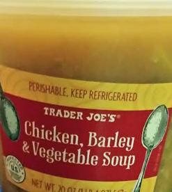 Trader Joe's Chicken, Barley & Vegetable Soup