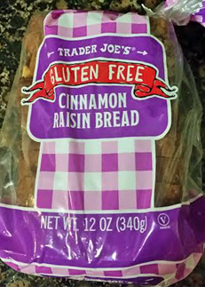 Trader Joe's Gluten-Free Cinnamon Raisin Bread