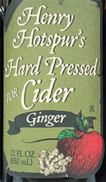 Henry Hotspur's Hard Pressed for Cider with Ginger
