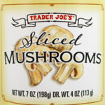 Trader Joe's Sliced Mushrooms