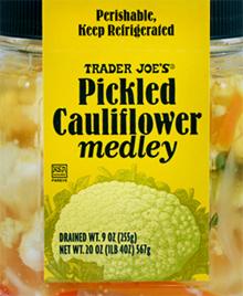 Trader Joe's Pickled Cauliflower Medley