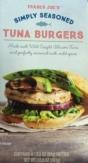 Trader Joe's Simply Seasoned Tuna Burgers