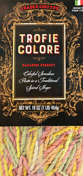 Trader Joe's Trofie Colore Macaroni Pasta