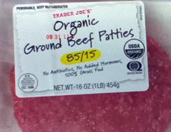 Trader Joe's Organic Ground Beef Patties