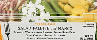 Trader Joe's Salad Palette with Mango