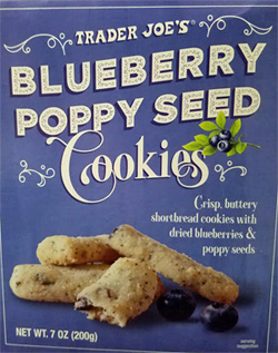 Trader Joe's Blueberry Poppy Seed Cookies