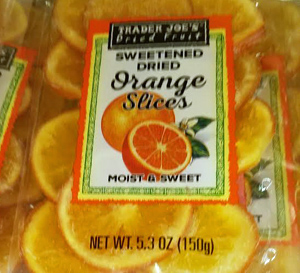 Trader Joe's Sweetened Dried Orange Slices