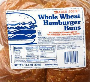 Trader Joe's Whole Wheat Hamburger Buns