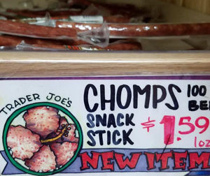 Trader Joe's Chomps 100% Beef Snack Sticks