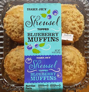 Trader Joe's Streusel Topped Blueberry Muffins
