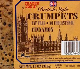 Trader Joe's British Style Cinnamon Crumpets