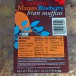 Trader Joe's Cranberry Mango Blueberry Bran Muffins