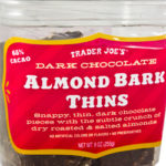 Trader Joe's Dark Chocolate Almond Bark Thins