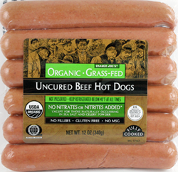 Trader Joe's Organic Uncured Grass-Fed Beef Hot Dogs
