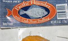 Trader Joe's Pacific Flounder with Crab Meat Stuffing